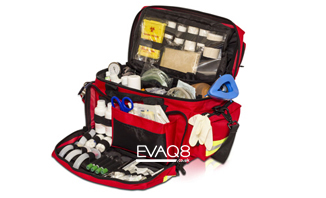 Medical Kit Bags fully kitted for first aid | SURVIVAL BAG UK First Aid and Emergency Preparedness supplies from EVAQ8.co.uk the UK's Emergency Prepardness specialist SURVIVAL BAG UK